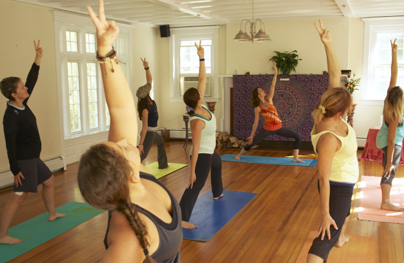 Yoga classes at Wilburton Inn.
