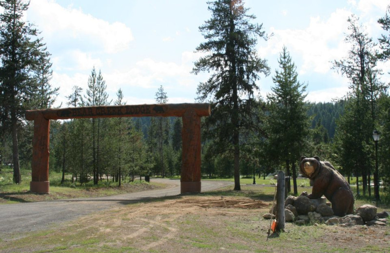 Entrance to Bear Creek Lodge.