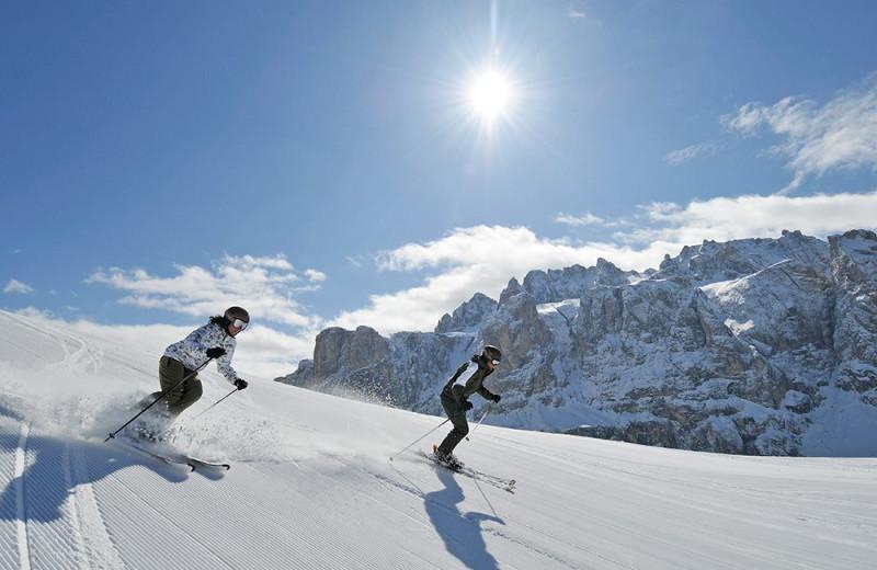 Skiing near Hotel Monte Sella.