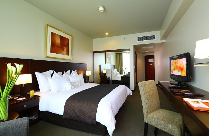 Guest room at Hotel Los Delfines.