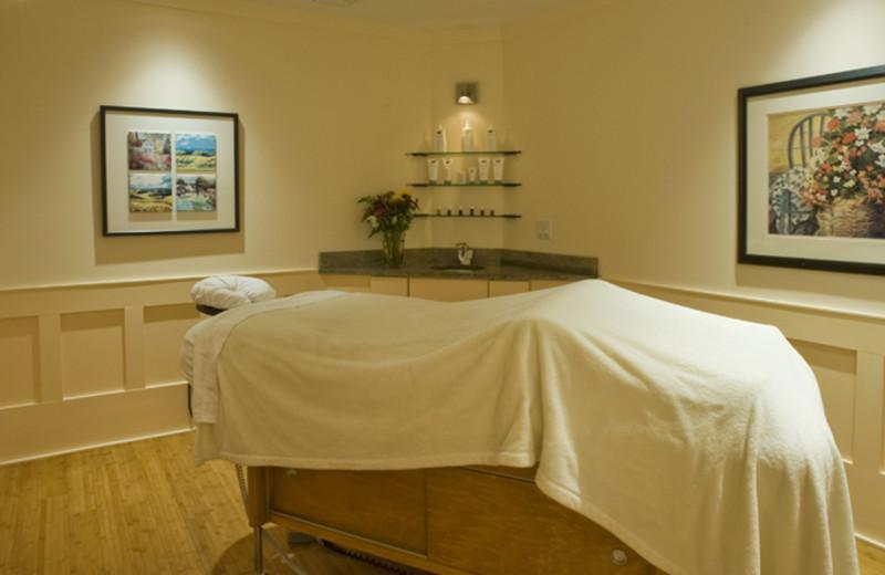Massage room at The Homestead.
