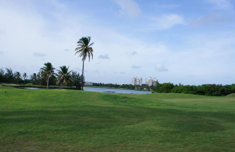Mullet Bay golf course near Coral Beach Club.
