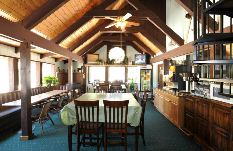 Dining area at Pinewoods Resort.
