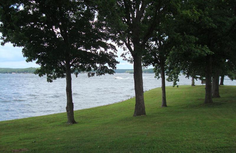 Shoreline at Mallard Point Resort.