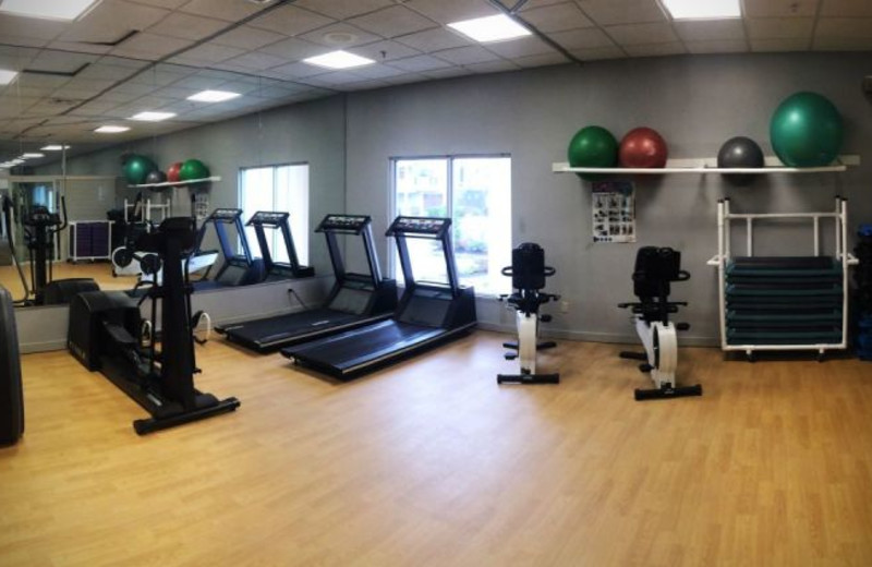 Fitness center at The White Sands Oceanfront Resort & Spa.