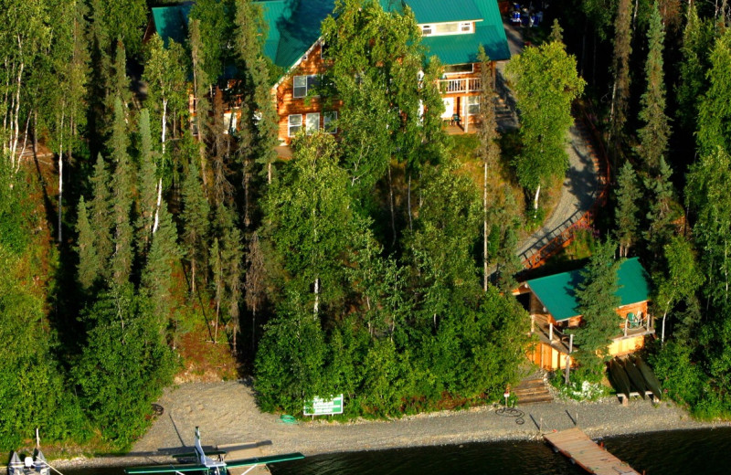 Aerial view of All Alaska Outdoor Lodge.