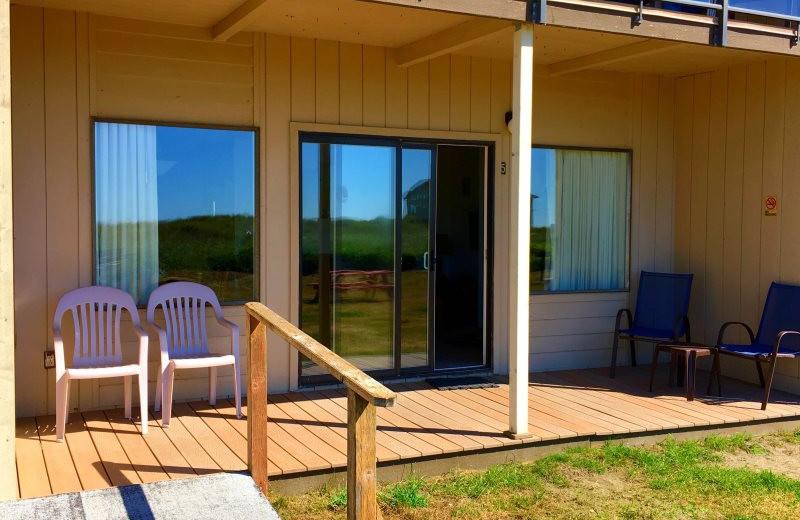 Guest porch at Hi-Tide Ocean Beach Resort.