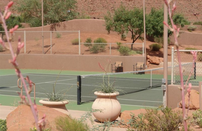 Tennis court at The Inn at Entrada.