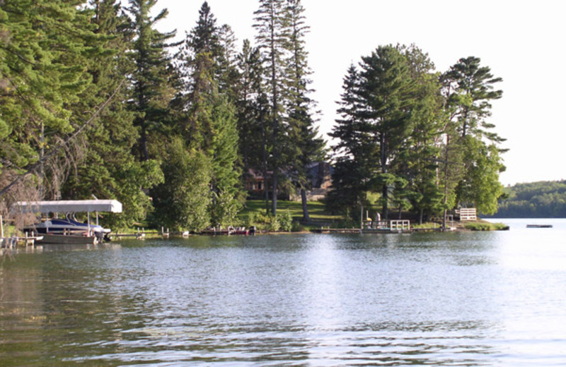 Lake view at Moore Springs Resort.