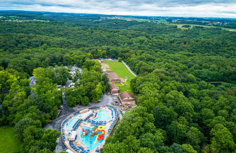 Aerial view of Yogi Bear's Jellystone Park Quarryville.