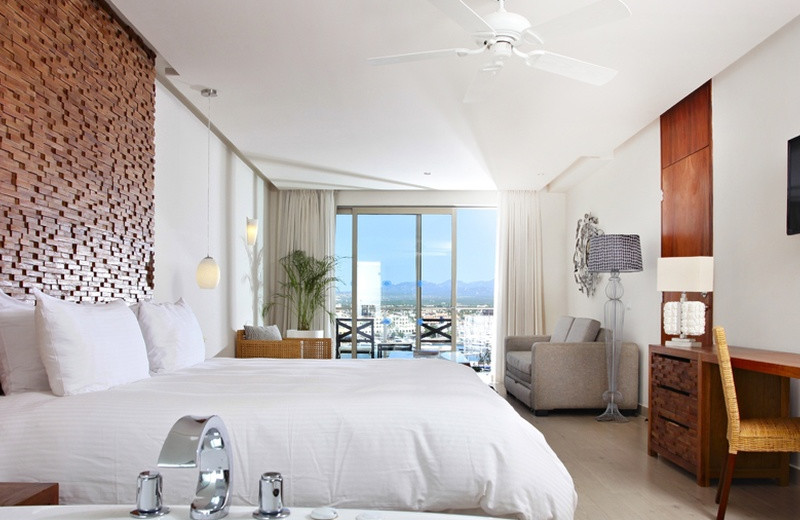 Guest room at Hotel Finisterra.