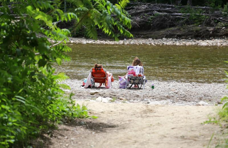 Fishing at Glen Ellis Family Campground.