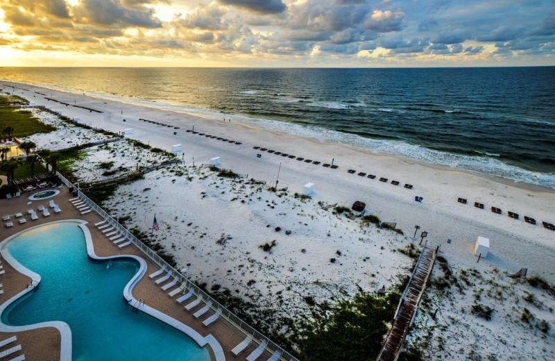 Beach view at Luna Beach Properties.