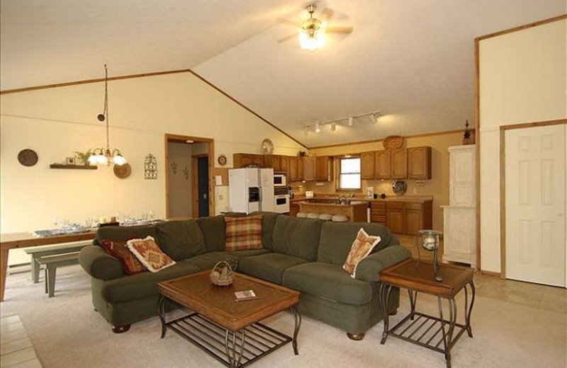 Vacation rental living room at Best of Canaan.