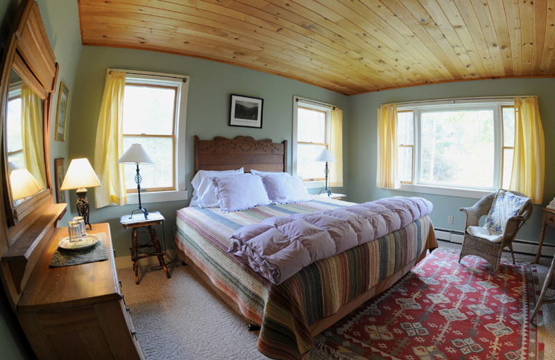 Guest room at Keene Valley Lodge.