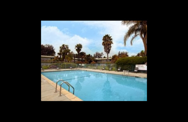 Outdoor pool at Ramada Silicon Valley.