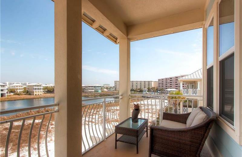 Rental balcony at Holiday Isle Properties.