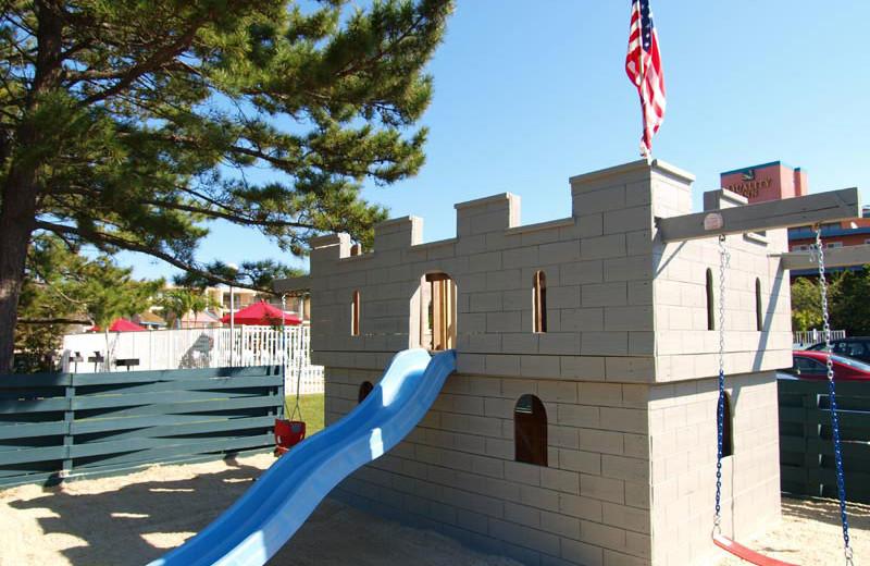 Children's castle at Quality Inn Oceanfront Ocean City.