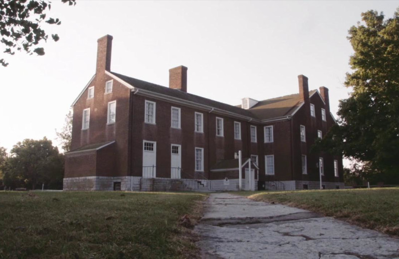 Exterior view of Shaker Village at Pleasant Hill.