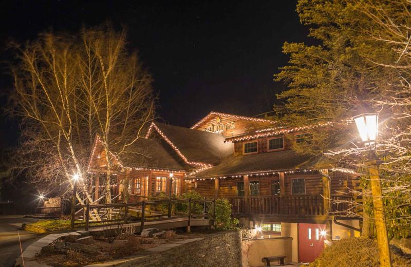 Night view of Emerson Resort & Spa.