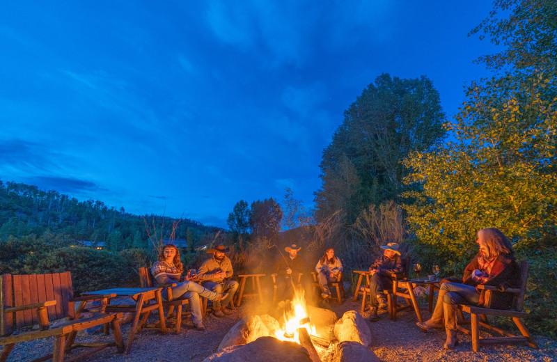 Fire pit at Vista Verde Ranch.