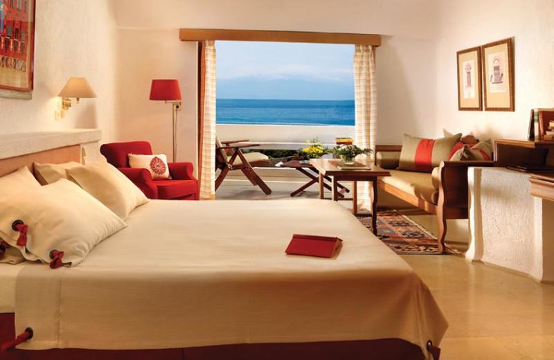 Guest room at Elounda Mare Hotel.
