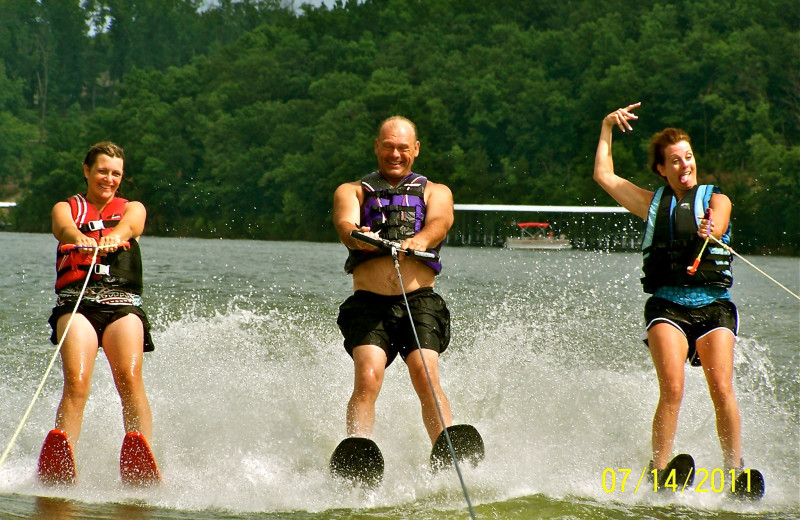Water skiing at Sunset Inn Resort.