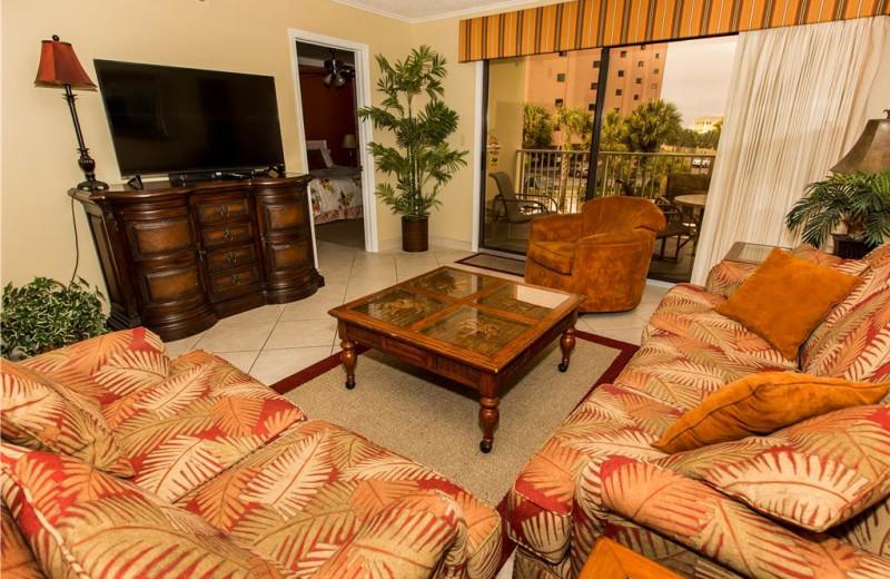 Living room at Holiday Isle Properties - Islander 212.