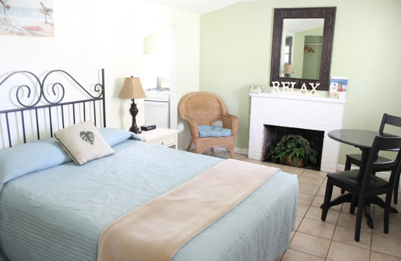 Guest room at Cabana Colony Cottages.