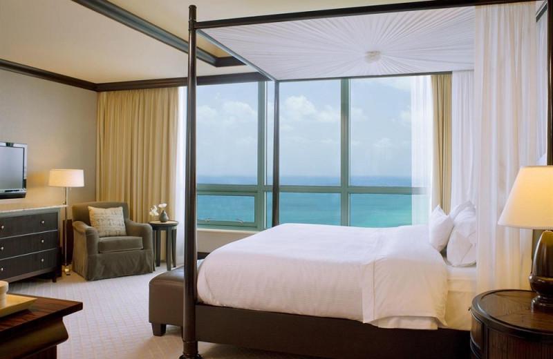 Guest room at The Westin Diplomat Resort.