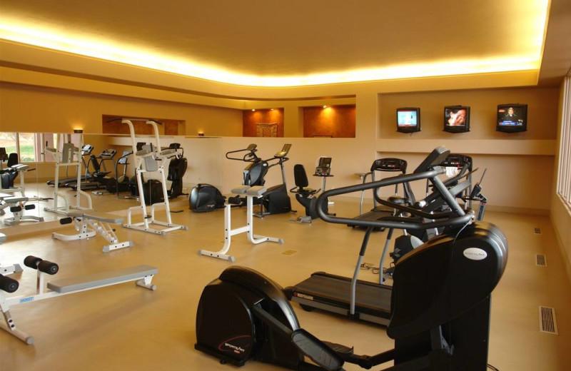 Fitness room at The Inn at Entrada.
