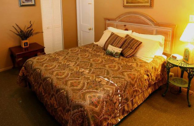 Guest room at Flowing Wells Resort.