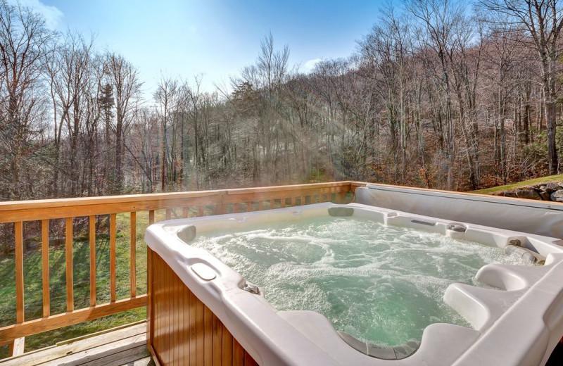 Rental hot tub at Killington Rental Associates.