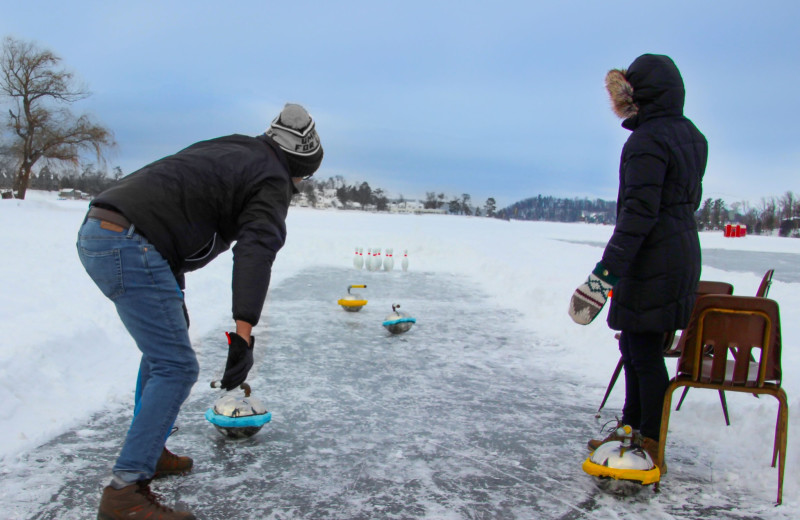 Winter games at Cragun's Resort and Hotel on Gull Lake.