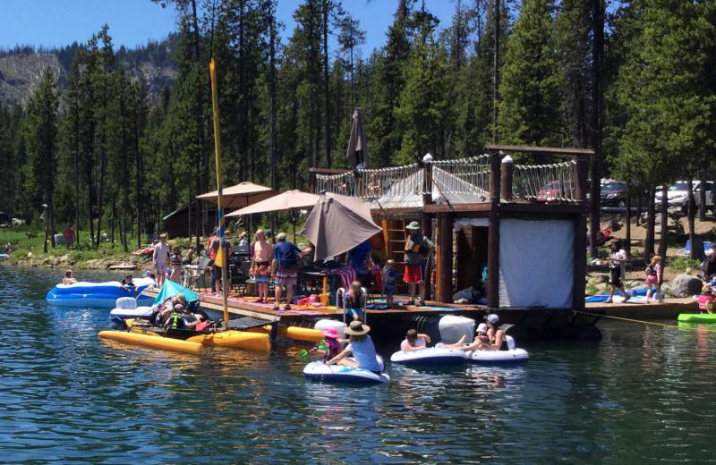 Lake activities at Elk Lake Resort.