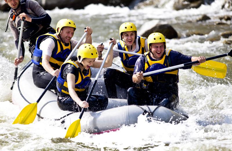 Rafting near Centennial Lodge of Beaver Creek.