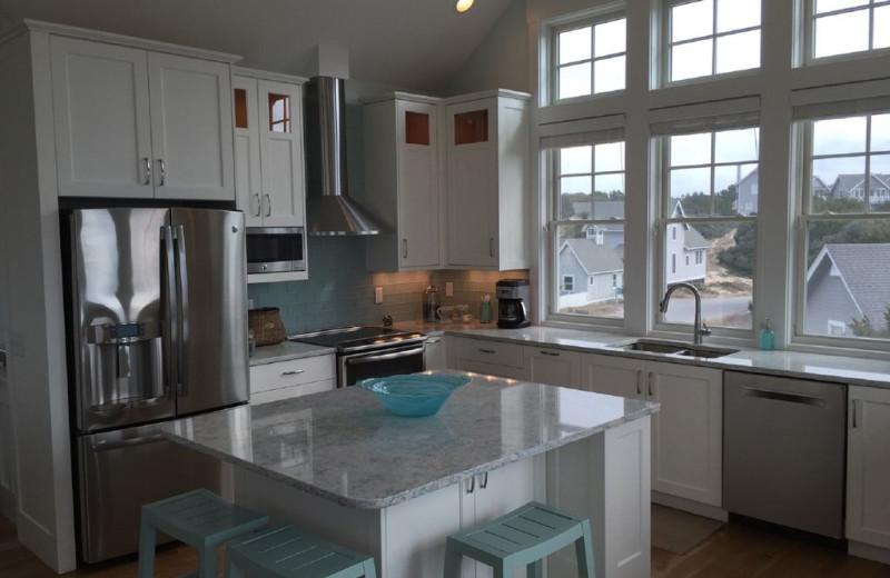 Rental kitchen at Mary Munroe Realty: Bald Head Vacations