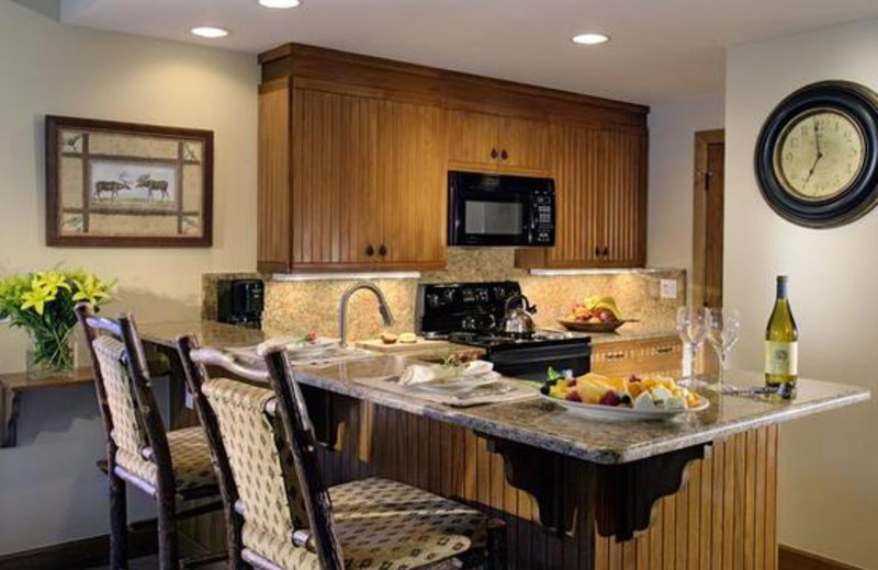 Suite kitchen at The Charter at Beaver Creek.
