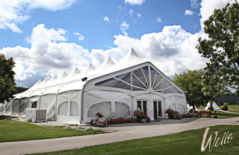 Event tent at St. Eugene Golf Resort & Casino.