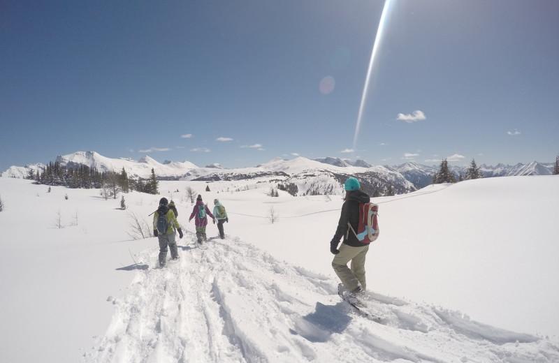 Snowshoeing at Banff Ptarmigan Inn.
