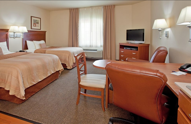 Guest room at Candlewood Suites Springfield.