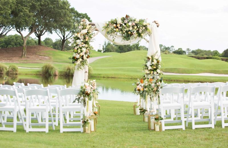 Wedding ceremony at Villas of Grand Cypress.