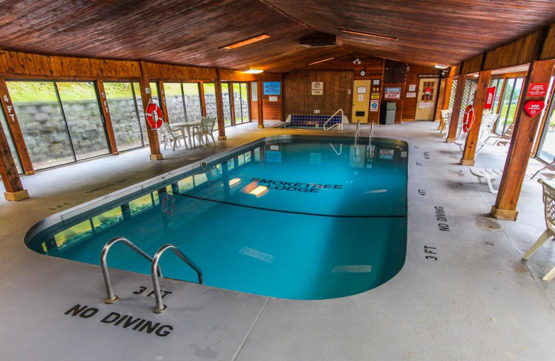 Indoor pool at Smoketree Lodge.
