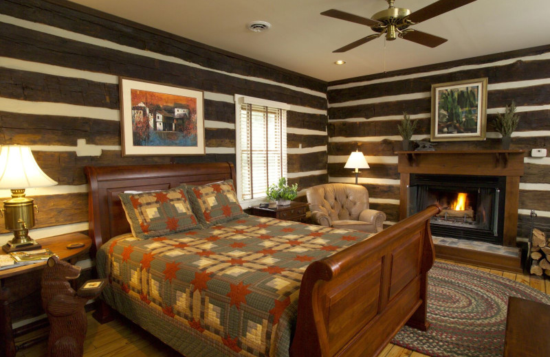 Guest room at Fort Lewis Lodge.