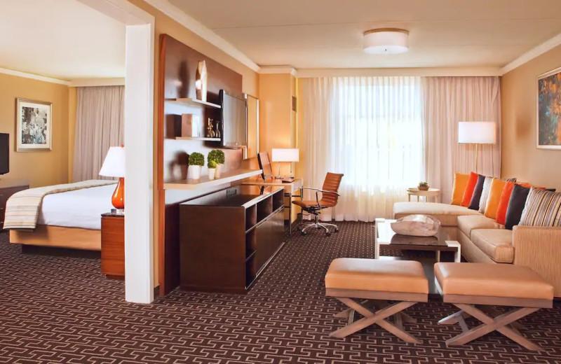 Guest room at Hyatt Regency Greenwich.
