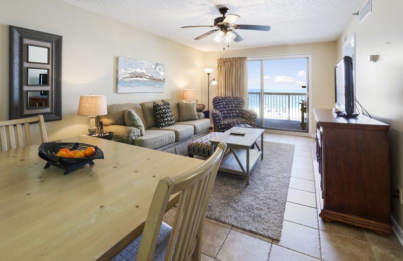 Rental living room at Alabama Coastal Properties.
