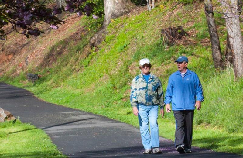 Enjoying the 2.3-mile paved walking trail at Lake Junaluska Conference