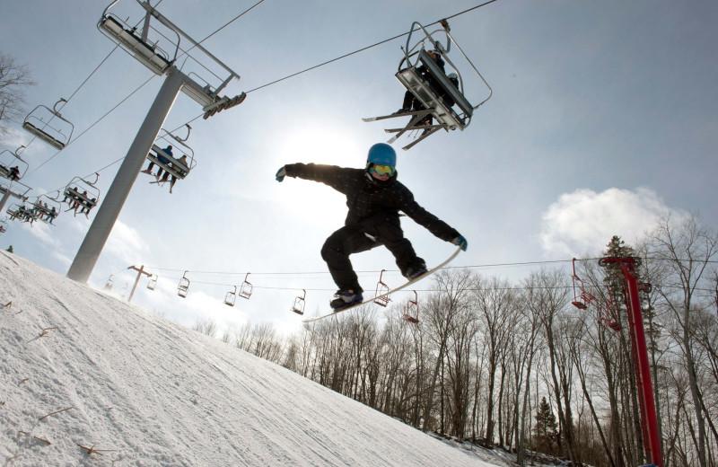 Skiing at Sir Sam's Inn & Spa.