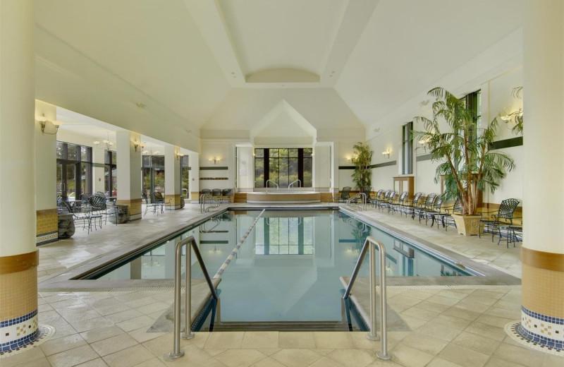 Indoor pool at Fairmont Le Manoir Richelieu.