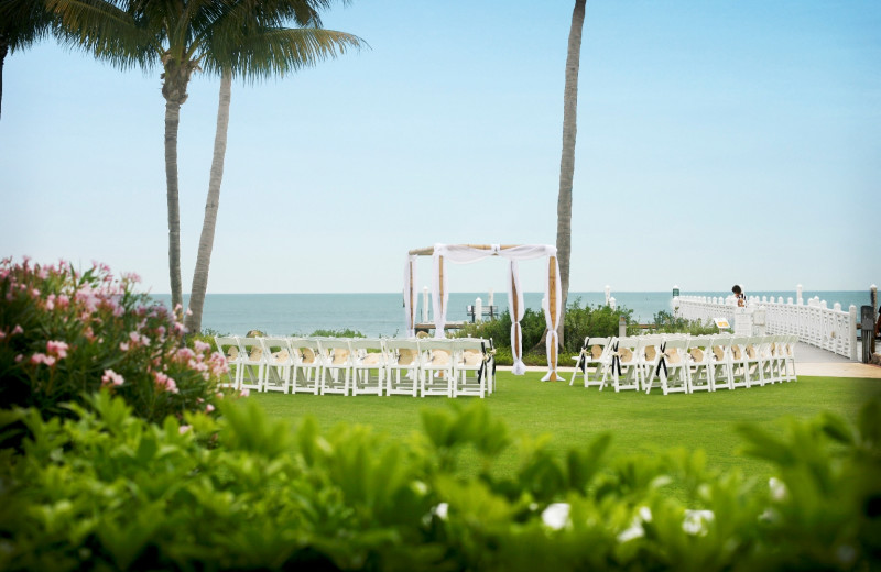Wedding ceremony at South Seas Island Resort.
